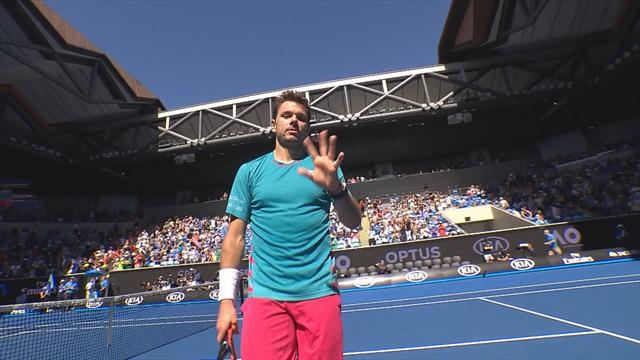 Tennis : Après sa frayeur du premier tour, Wawrinka a haussé le ton