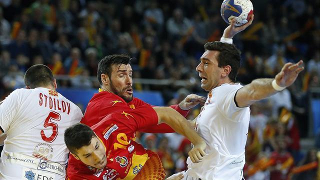 Mundial de balonmano 2017, Macedonia-España: Líderes en solitario (25-29)