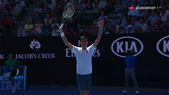 VIDEO: 'Sit down, sit down!' Djokovic urges Istomin to rest after 16-minute opening game