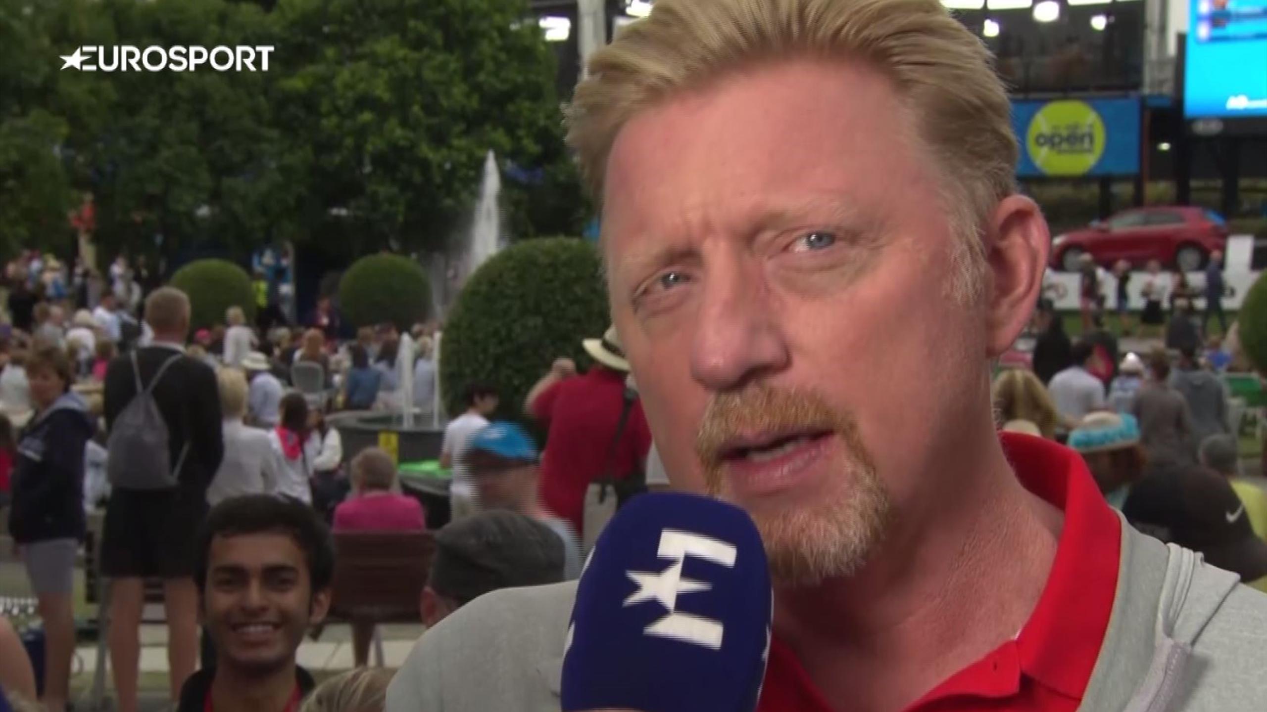Boris Becker reacts to Djokovic exit