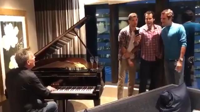 Federer est prêt pour lancer un boys band avec Dimitrov et Haas