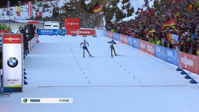 Germany take glory in Antholz after amazing photo finish