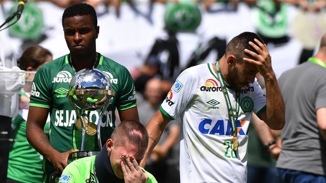 Il Chapecoense ritorna in campo: emozioni, lacrime e consegna del trofeo