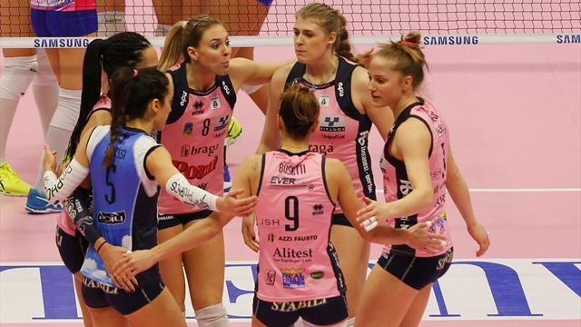 Playoff Scudetto: Modena vola in semifinale, Bergamo out: Casalmaggiore-Busto Arsizio alla bella