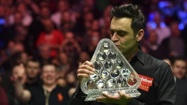 Ronnie O'Sullivan becomes snooker's greatest Master of all time