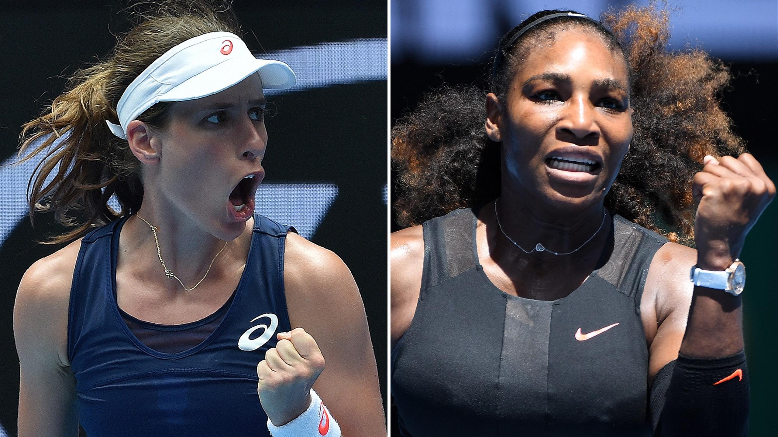 Jo Konta faces Serena Williams in the quarter-finals of the Australian Open