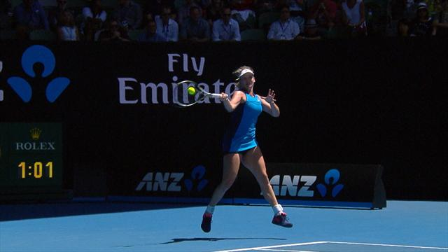 Vandeweghe n'a pas été submergée par la pression : les temps forts de sa victoire en vidéo