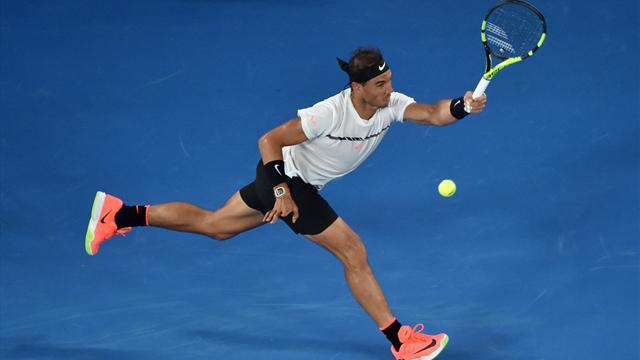 Надаль победил Раонича вчетвертьфинале Открытого чемпионата Австралии потеннису