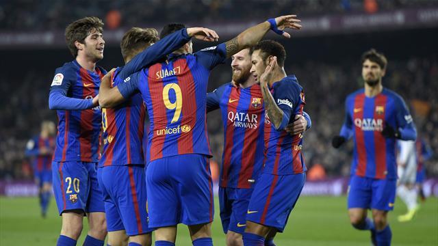 Le Barça écrase la Real Sociedad — Esp. (Cpe)