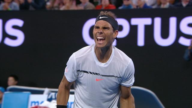 Mené 15-40 et 4-3 dans le 5e set, Nadal a fait basculer son destin en quatre points
