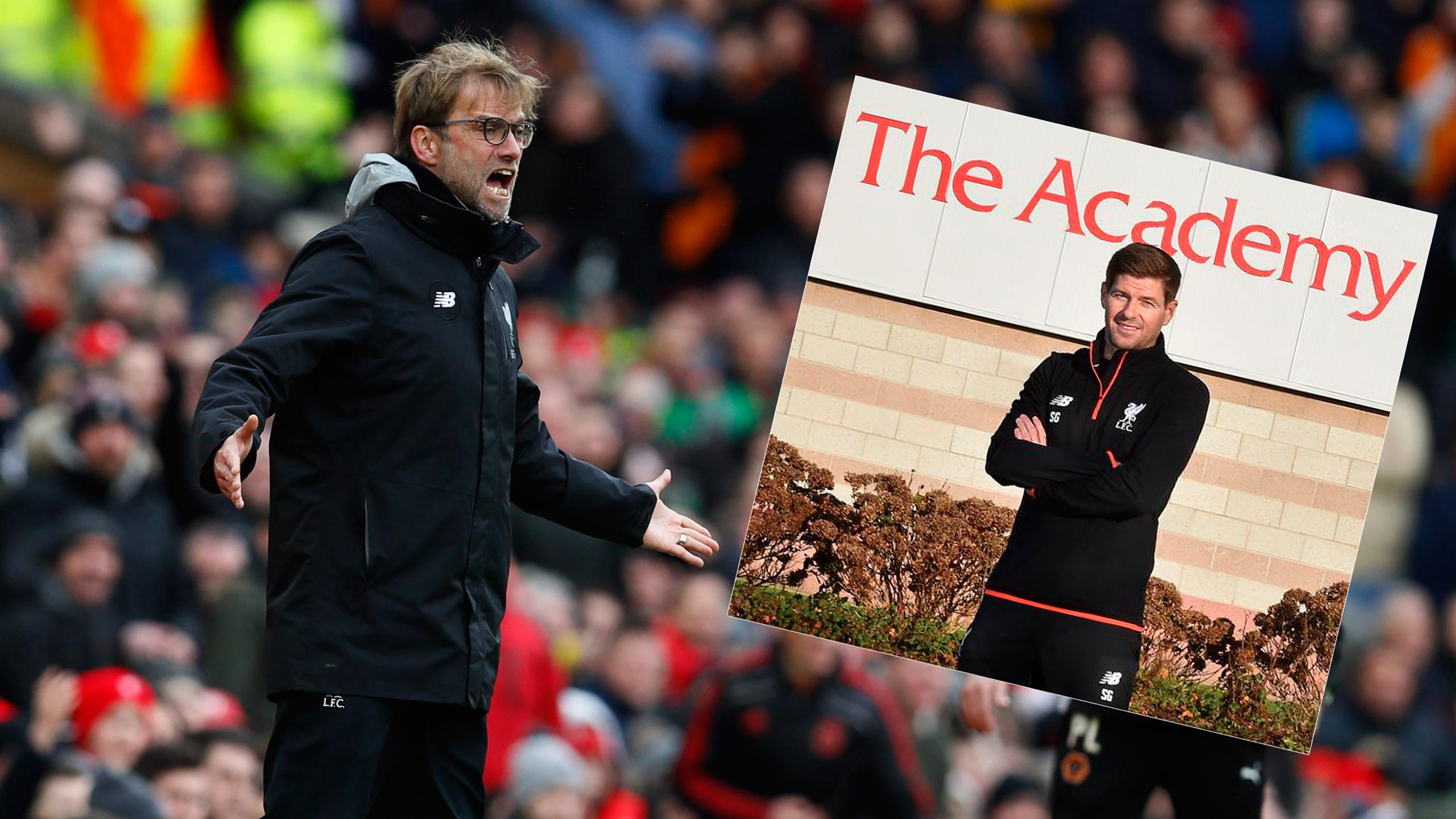 Liverpool boss Jurgen Klopp and club legend Steven Gerrard
