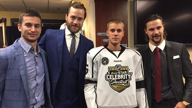 Джастин Бибер назвездном матче НХЛ-2017 забросил решающую шайбу