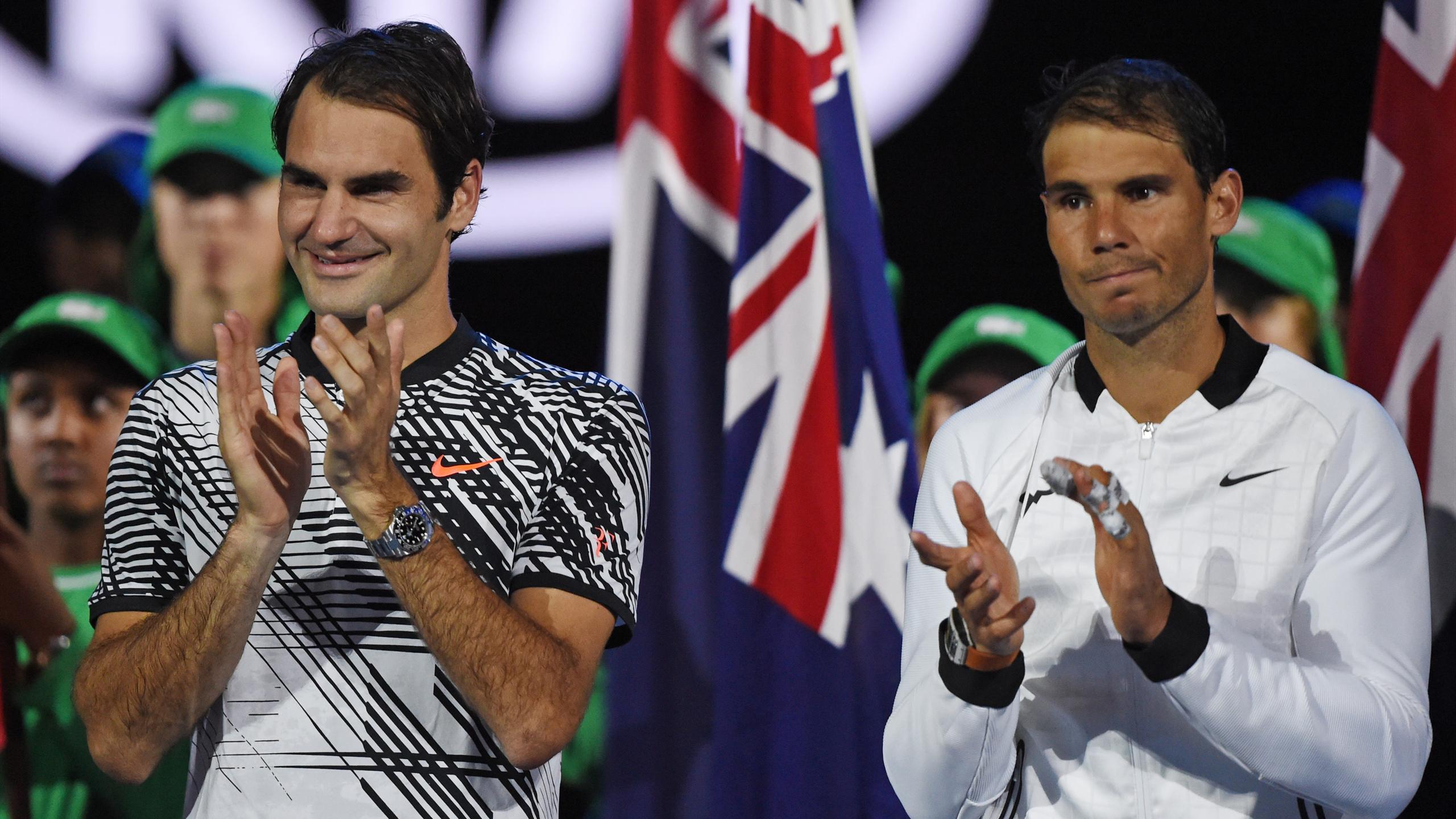 Roger Federer avec Rafael Nadal - Open d'Australie 2017