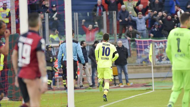 Cagliari raggiunto a Bologna nel finale