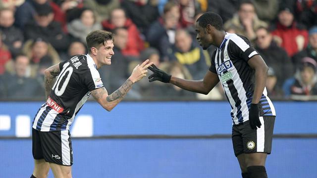 Il Palermo dura solo un tempo, poi viene travolto: 4-1 Udinese, Zapata sempre in gol