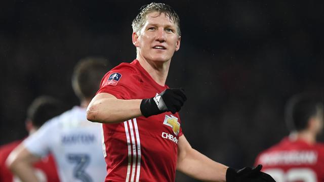 Pour son retour, Schweinsteiger a marqué et Manchester United s'est facilement imposé