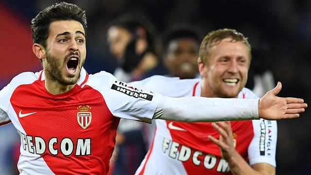 PSG denied by Monaco's Silva in stoppage time