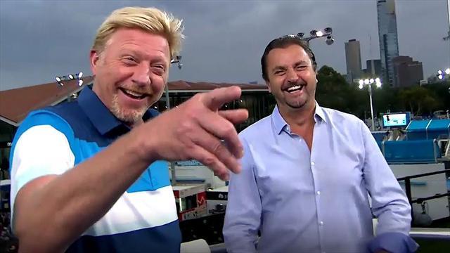 Backstage mit Eurosport-Experte Boris Becker