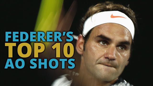 Top 10 Federer shots from the Australian Open