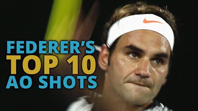 Top 10 Federer shots from the Australian Open