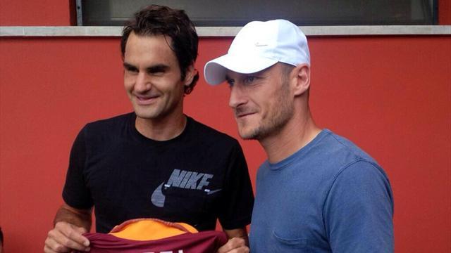 """Totti elogia Federer: """"Amo la sua passione e professionalità"""""""