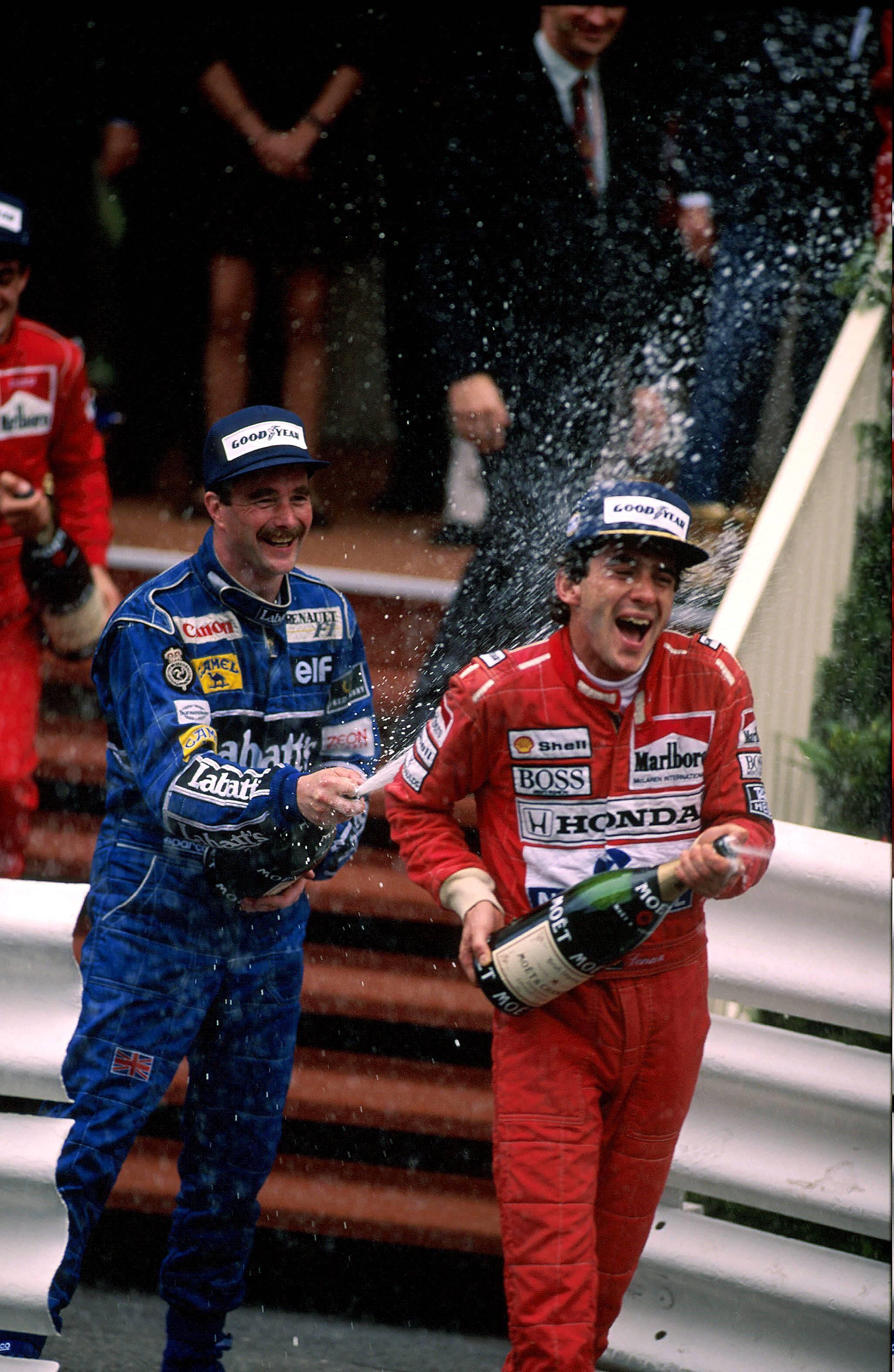 Nigel Mansell & Ayrton Senna - 1992 Monako Grand Prix