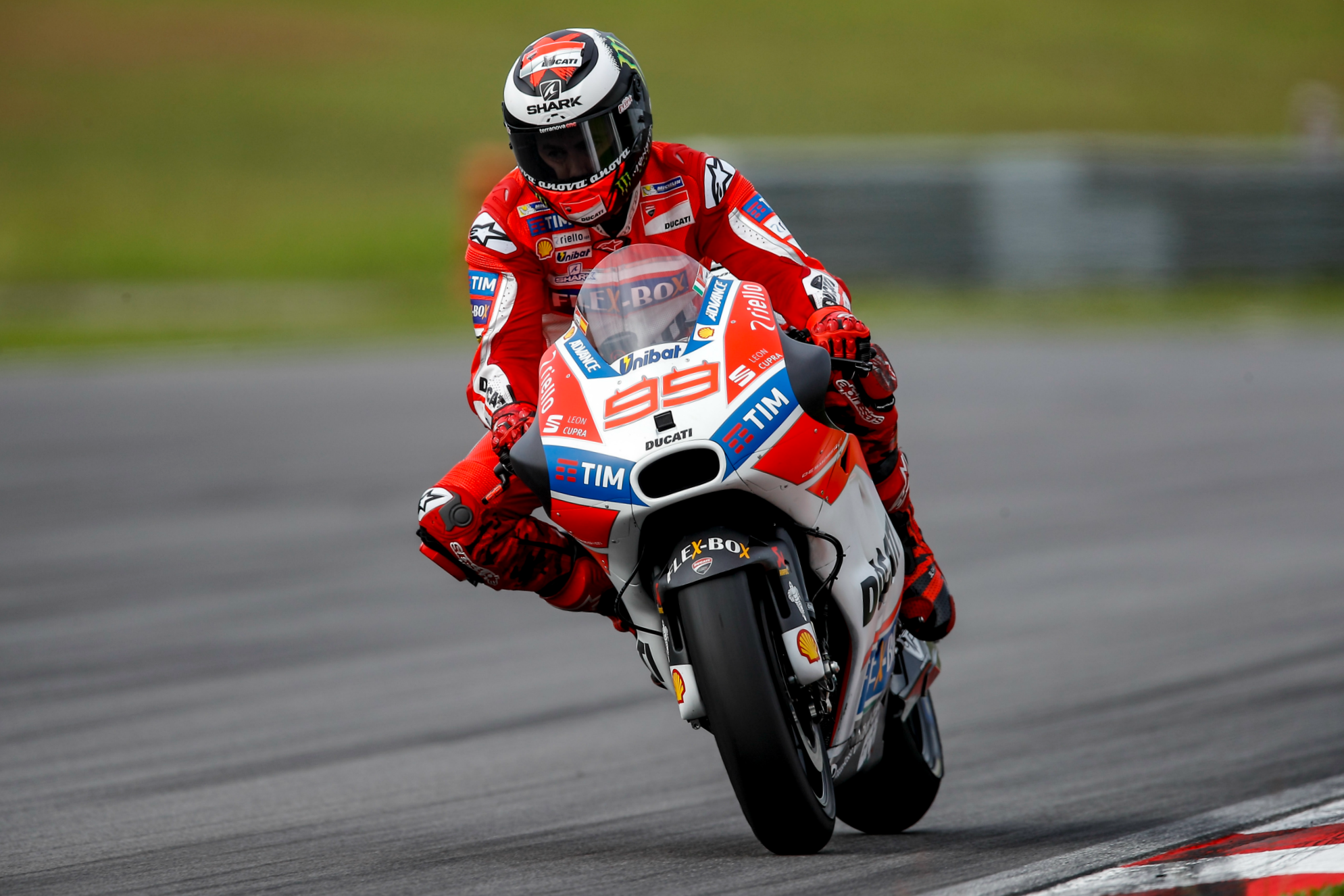 Jorge Lorenzo (Ducati Team) lors des tests IRTA le 1er février 2017