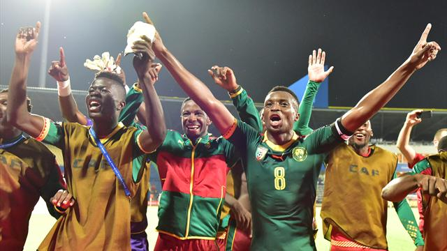 Cameroon upset odds to set up Egypt showdown