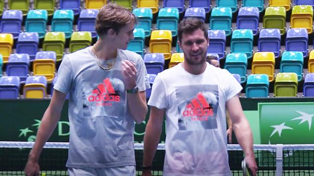 Davis Cup: Zverev-Brüder mit Schwung gegen Belgien