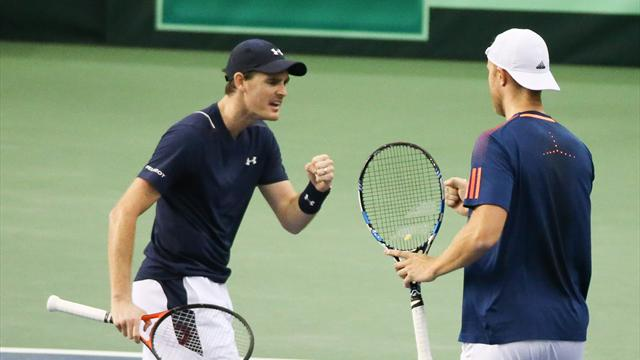Murray and Inglot claim four-set win to give GB advantage