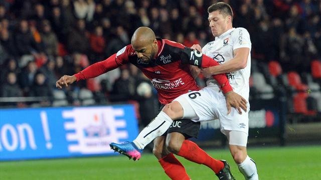 Guingamp n'avance plus, Caen et Lorient ont le sourire