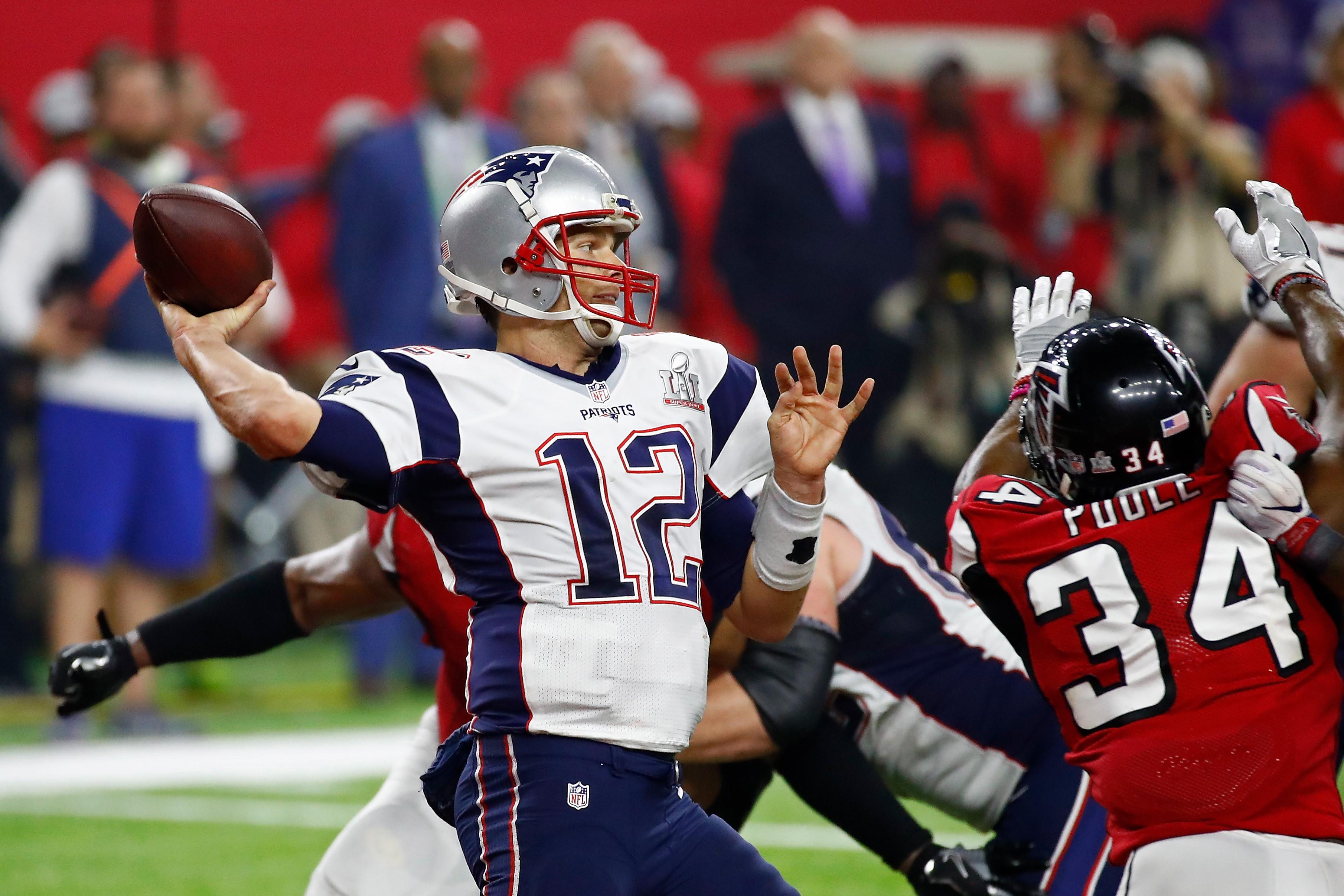 Tom Brady lors de New England Patriots Atlanta Falcons au Super Bowl 2017