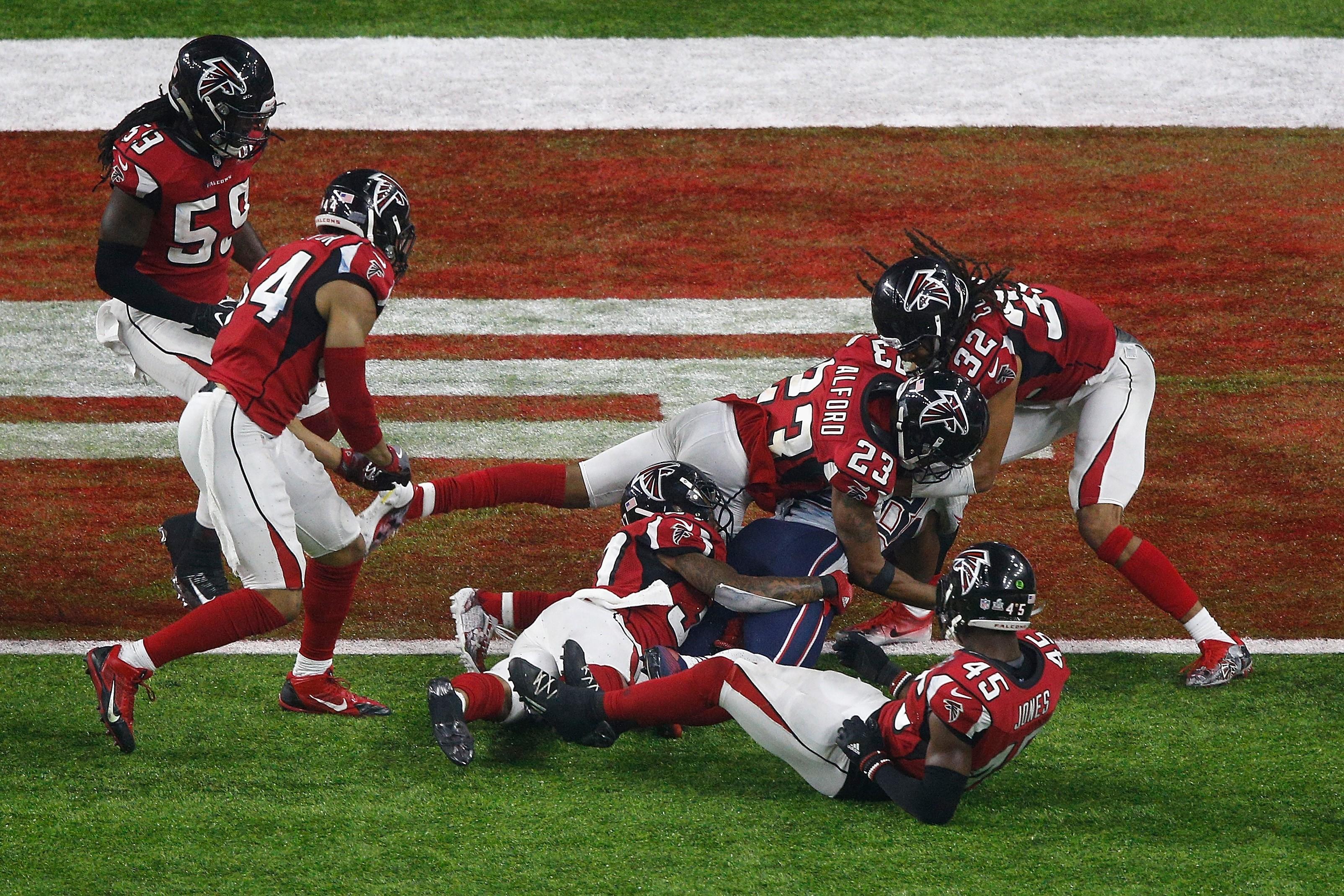 Le touchdown de la victoire pour New England Patriots signé James White