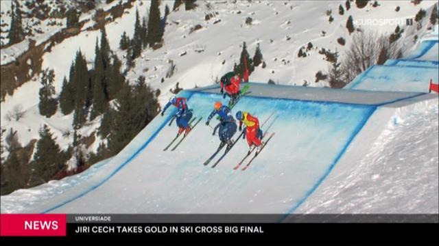 Jiri Cech takes gold in ski-cross big final