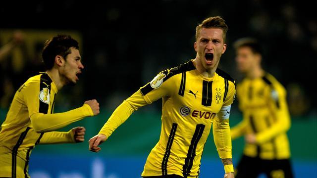 Dortmund et Francfort en quarts de finale