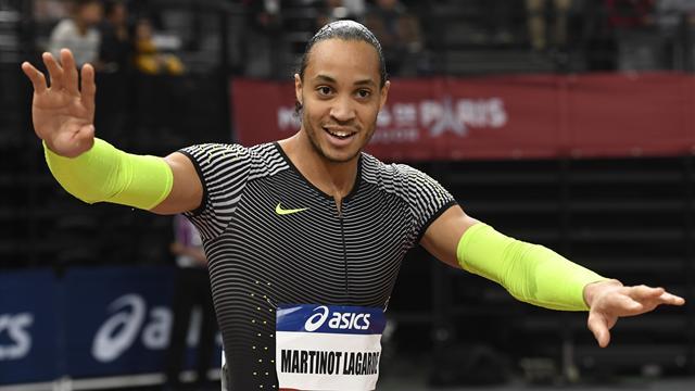 Martinot Lagarde gagne et accélère sur 60 m haies