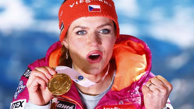 Koukalova pips Dahlmeier to first gold of Biathlon World Championships