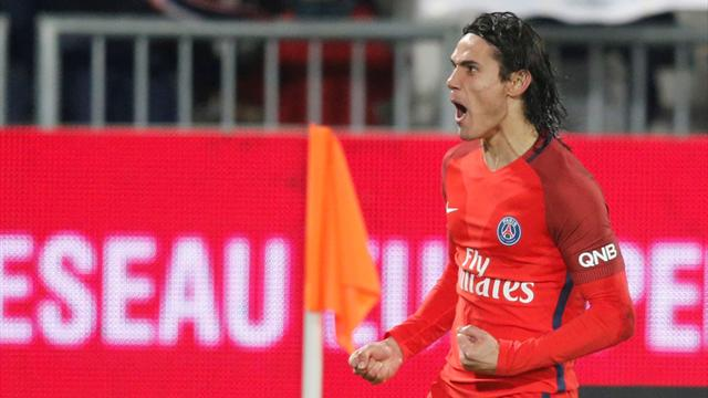 Cavani double lifts PSG to easy win at Bordeaux