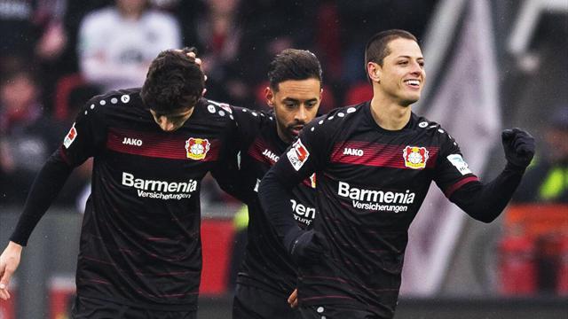 Bundesliga, B. Leverkusen-Eintracht Frankfurt: Doblete de Chicharito y lavado de imagen (3-0)