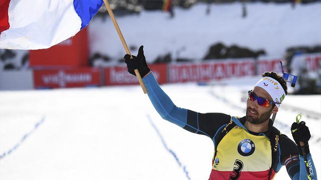France's Fourcade defends 12.5km pursuit biathlon world title
