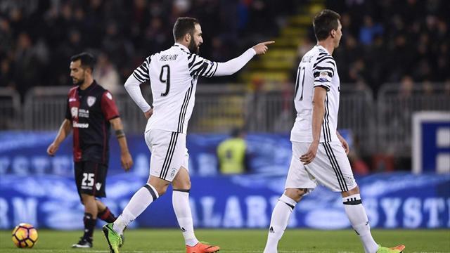Calcio, Juventus-Cagliari 2-0 alla fine del primo tempo