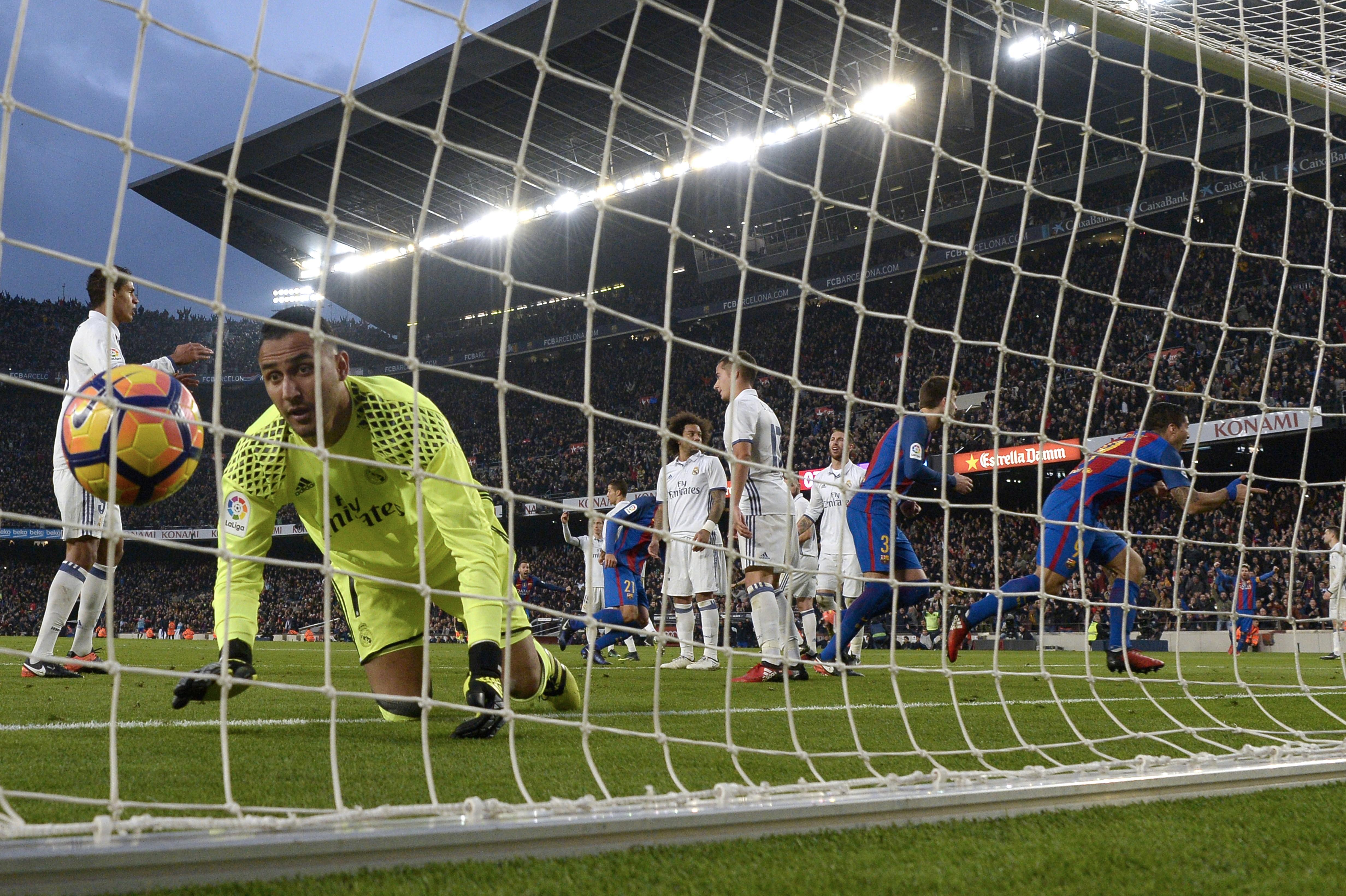 Luis Suarez buteur lors de FC Barcelone - Real Madrid en Liga le 3 décembre 2016
