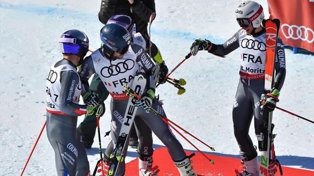 """Ski: la France titrée par équipes, 1re médaille à Saint-Moritz"""""""
