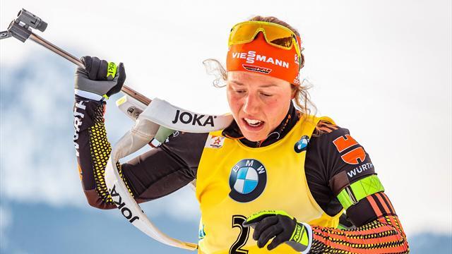 Dahlmeier powers to third gold medal at biathlon Worlds
