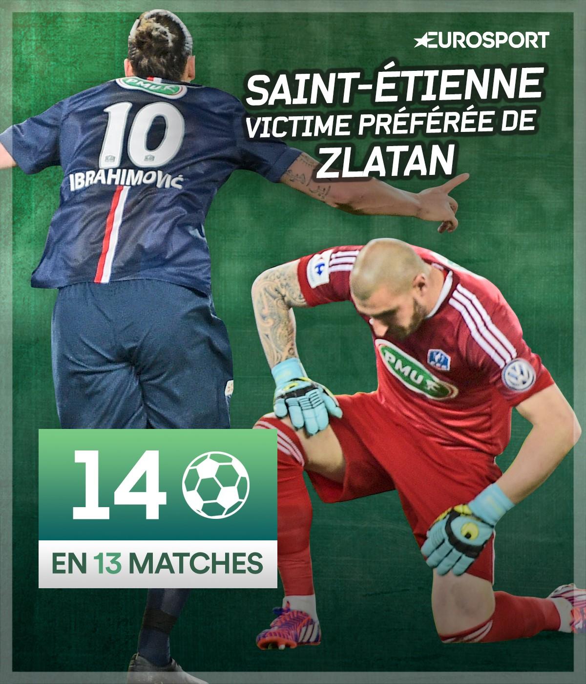 Zlatan Ibrahimovic face à Saint-Etienne