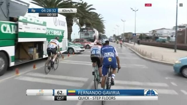Volta ao Algarve: bello spunto di Gaviria, sua la prima tappa