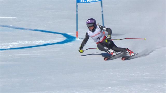 Tessa Worley in testa alla prima manche del gigante di St.Moritz