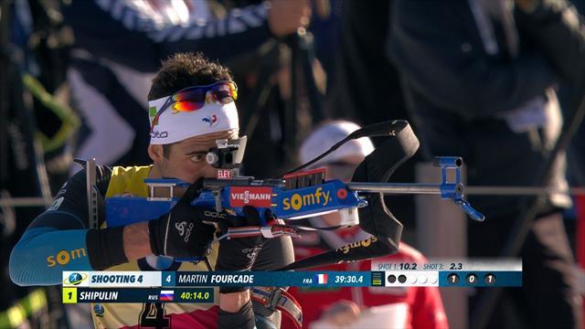 Intouchable sur les skis, Fourcade a perdu le titre au tir couché