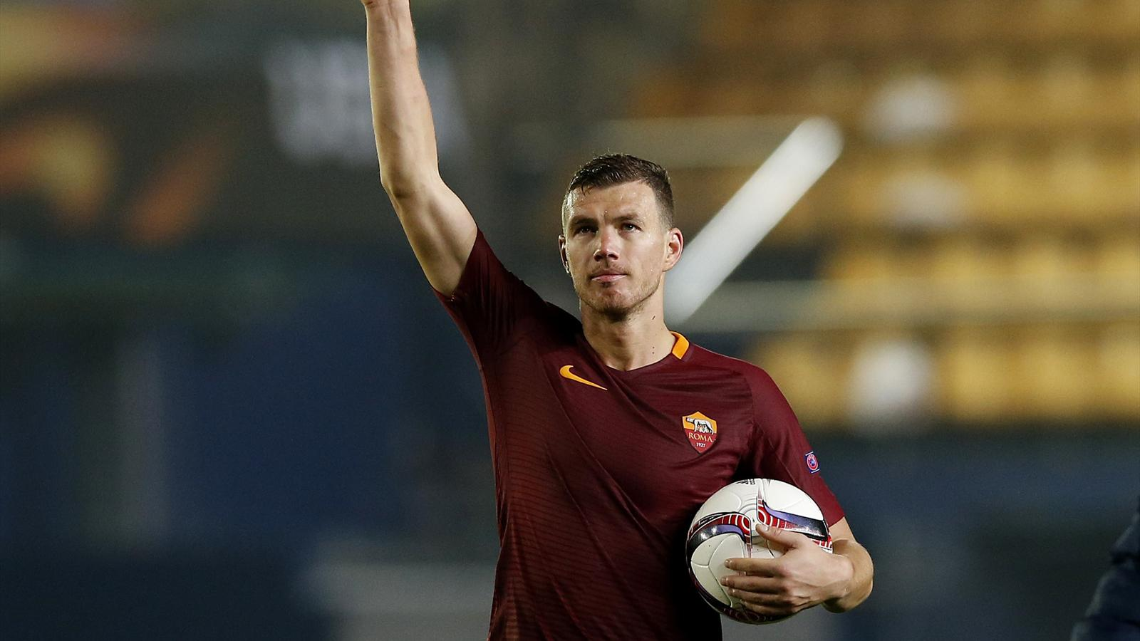 Round up Edin Dzeko treble destroys Villarreal Lyon thrash