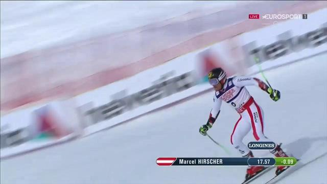 Marcel Hirscher davanti a tutti nella prima manche del gigante